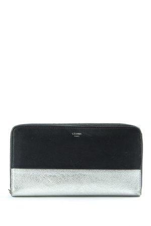 Celine Paris Wallet black-silver-colored casual look