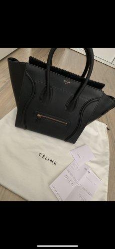 Celine Handbag black-gold-colored leather