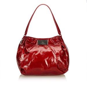 Celine Shoulder Bag red imitation leather