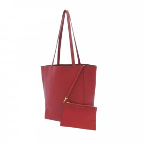 Celine Tote red leather