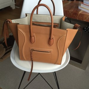 Celiné Phantom Luggage Bag in Cognac