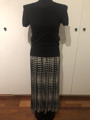 Celine Jupe plissée noir-blanc cassé