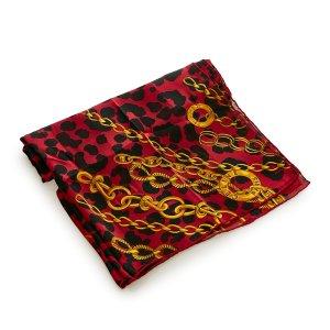 Celine Scarf red silk