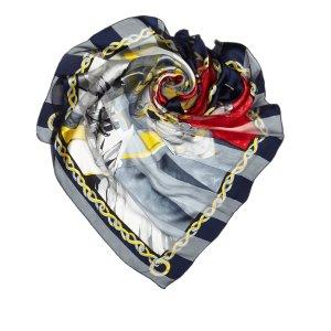 Celine Sjaal blauw Zijde