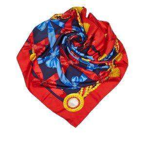 Celine Sjaal rood Zijde