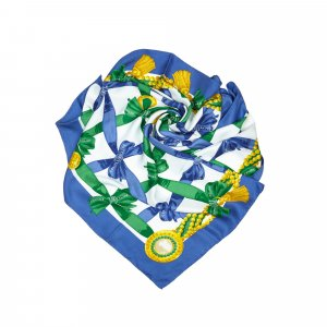 Celine Sciarpa blu Seta