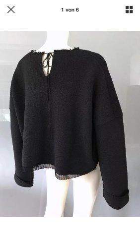 Celine Oversized Sweater black silk