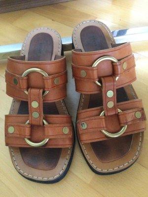 Celine Paris Comfort Sandals cognac-coloured
