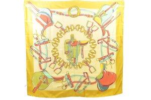 Celine Gebreide sjaal geel Zijde