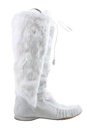 Celine Schnürstiefel weiß extravaganter Stil