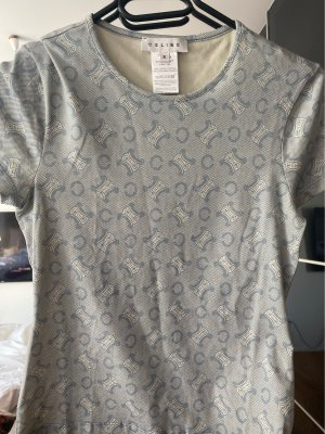 Celine shirt T-shirt S blau grau Logo