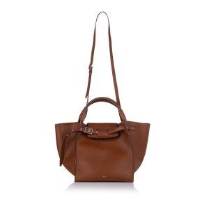 Celine Sacoche brun cuir