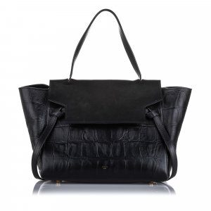 Celine Small Croc Embossed Belt Bag