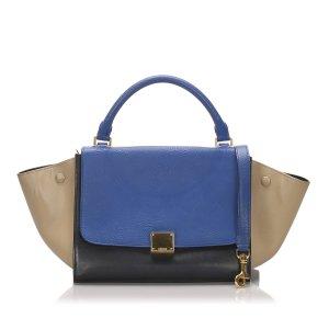 Celine Sacoche bleu cuir