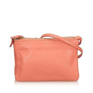 Celine Shoulder Bag orange leather