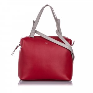 Celine Sacoche rouge cuir