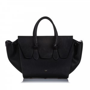 Celine Small Tie Leather Tote Bag