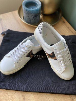 Celine Paris Sneakers met veters wit-bruin
