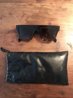 Celine Gafas de sol cuadradas negro-marrón