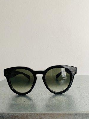 Celine Ronde zonnebril zwart-grijs-groen