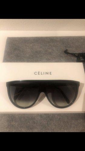 Celine Lunettes de soleil angulaires noir