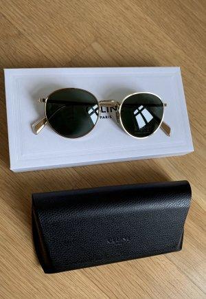 Celine Gafas de sol redondas color oro-gris verdoso