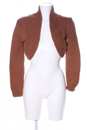 Celine Knitted Bolero brown cable stitch casual look