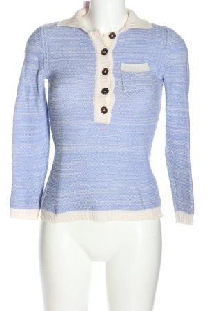 Celine Strickpullover blau-weiß meliert Casual-Look
