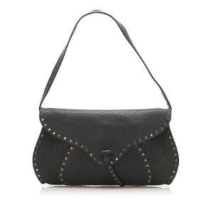 Celine Studded Leather Baguette