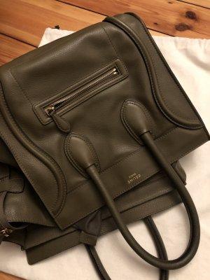 Celine Tasche Medium luagge khaki lampskin Lamm Leder Handtasche