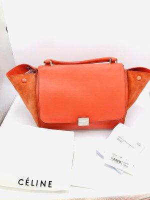 Celine Trapez Medium rot orange mit Rechnung