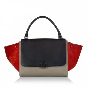 Celine Trapeze Leather Handbag