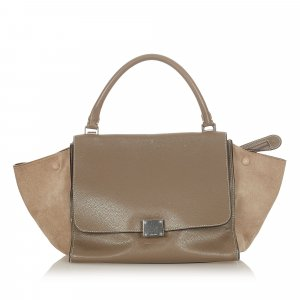 Celine Trapeze Leather Satchel