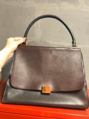 Celine Handbag dark green-brown
