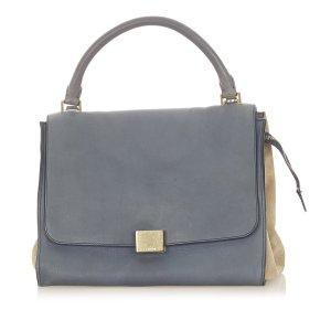 Celine Trapeze Tricolor Leather Handbag
