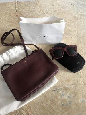 Celine Trio Bag Tasche + Céline Paris Sonnenbrille burgundy