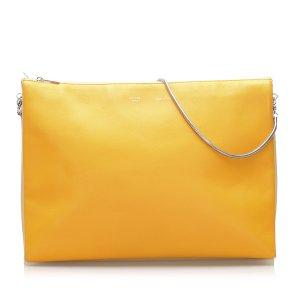Celine Trio Chain Leather Shoulder Bag