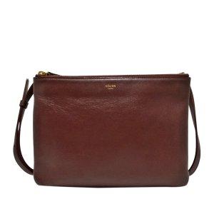 Celine Crossbody bag bordeaux leather