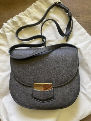 Celine Trotteur Tasche Leder Grau