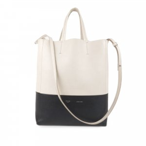 Celine Satchel white leather