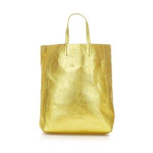 Celine Bolso de compra color oro Cuero