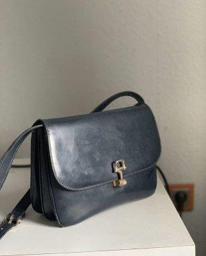 Celine Shoulder Bag black-dark blue