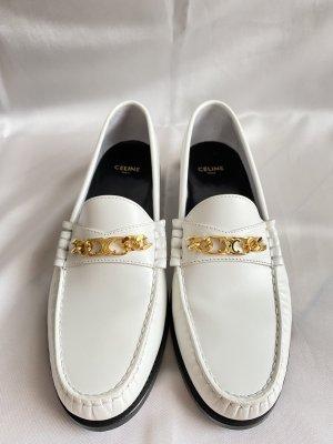 Celine Paris Moccasins white leather