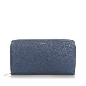 Celine Wallet dark blue leather