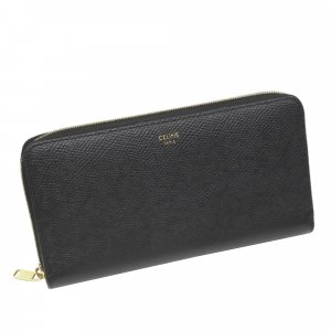 Celine Wallet black leather