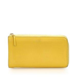 Celine Zip Around Leather Long Wallet