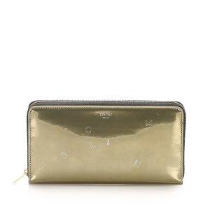 Celine Zip Around Patent Leather Long Wallet