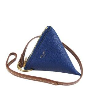 Celine Porte-clés bleu cuir