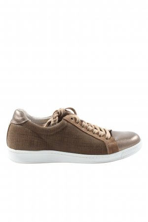 Cellini Lace-Up Sneaker brown-bronze-colored check pattern casual look