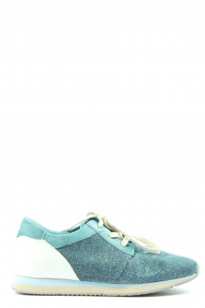 Cellini Lace-Up Sneaker turquoise-white casual look